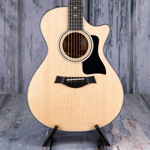 Taylor 312ce Grand Concert Acoustic/Electric Guitar, Natural, front