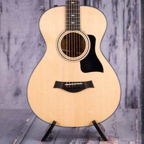 Taylor 312e 12-Fret Grand Concert Acoustic/Electric Guitar, Natural, front closeup