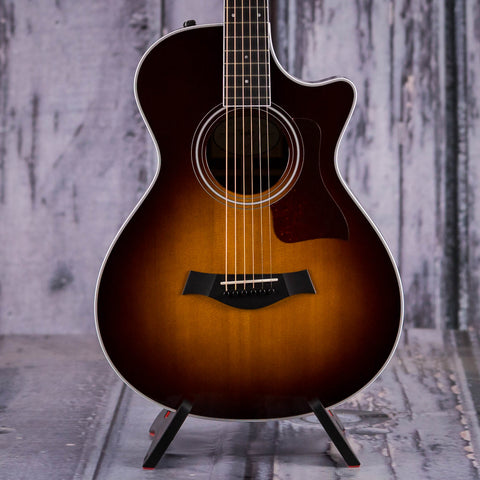 Taylor 412ce-R Top Special Edition Acoustic/Electric Guitar, Tobacco Sunburst, front closeup