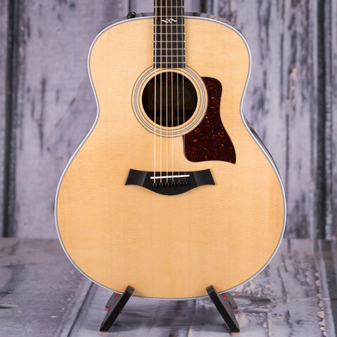 Taylor 418e-R Acoustic/Electric Guitar, Natural, front closeup