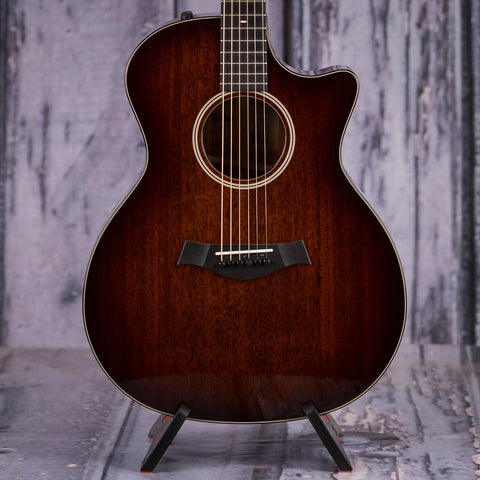 Taylor 524ce V-Class Acoustic/Electric Guitar, Shaded Edgeburst, front closeup
