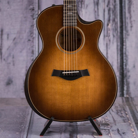 Taylor 614ce Builder's Edition Acoustic/Electric Guitar, Wild Honey Burst, front closeup