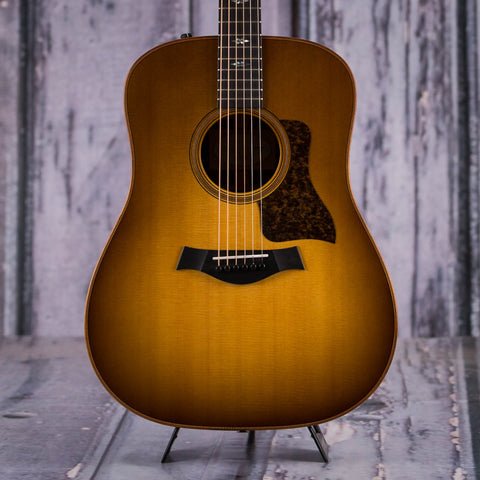 Taylor 710e Acoustic/Electric Guitar, Western Sunburst, front closeup