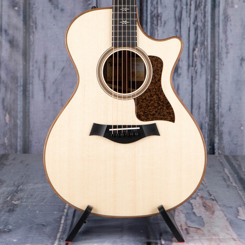 Taylor 712ce Grand Concert Acoustic/Electric Guitar, Natural, front closeup