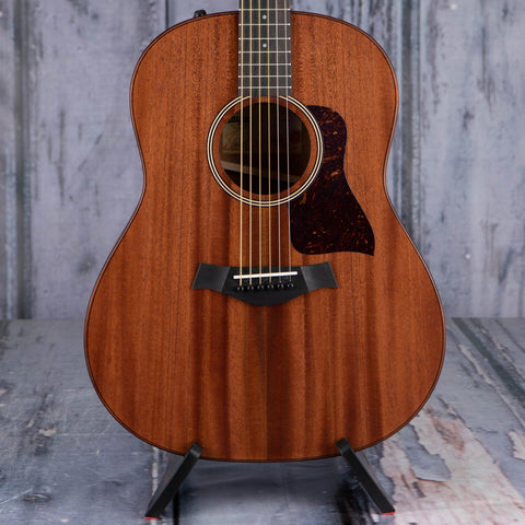 Taylor American Dream AD27e Acoustic/Electric Guitar, Natural, front closeup