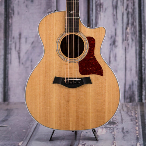 Taylor Grand Auditorium 414ce-R Acoustic/Electric Guitar, Natural, front closeup
