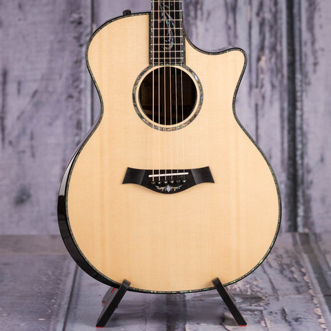 Taylor Grand Auditorium PS14ce Acoustic/Electric Guitar, Natural, front closeup