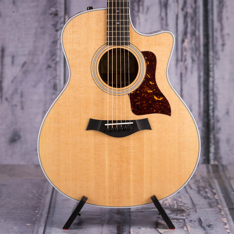Taylor Grand Symphony 416ce Acoustic/Electric Guitar, Natural, front closeup