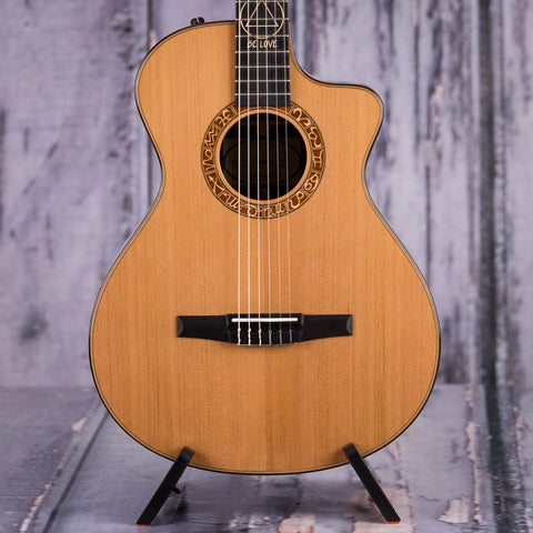 Taylor Jason Mraz Signature Model Acoustic/Electric Guitar, Natural, front closeup