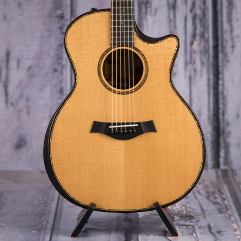 Taylor K14ce Builder's Edition Acoustic/Electric Guitar, Kona Burst, front closeup