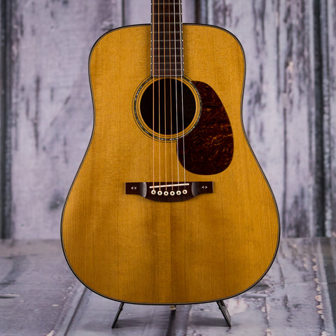 Used Bourgeois 40th Ann. Limited Edition #1 Of 15 Dreadnought, 2015, Natural, front closeup