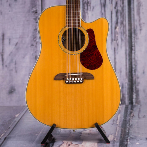 Used Alvarez Fusion Series FD60S12 12-String Dreadnought Acoustic/Electric Guitar, Natural, front closeup