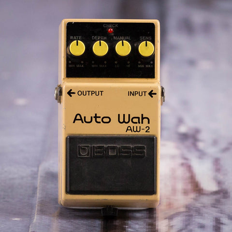 Used Boss AW-2 Auto Wah Effects Pedal, front