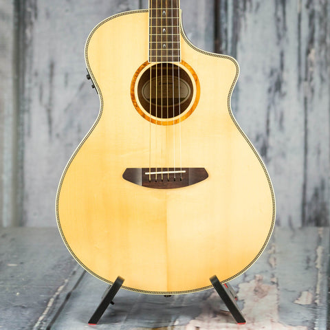 Used Breedlove 25th Anniversary Pursuit Acoustic/Electric Guitar, Natural, front closeup
