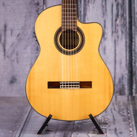 Used Cordoba GK Studio Classical Acoustic/Electric Guitar, Natural, front closeup