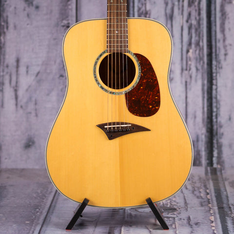 Used Dean Tradition S GN Acoustic Guitar, Natural, front closeup