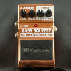 Used DigiTech Bass Squeeze Dual Band Bass Compressor
