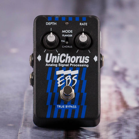 Used EBS Analog Signal Processing UniChorus Effects Pedal, front