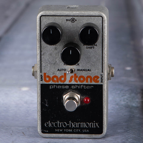 Used Electro-Harmonix Bad Stone Phase Shifter Effects Pedal, front
