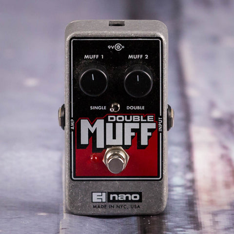 Used Electro-Harmonix Double Muff Nano Fuzz Overdrive Effects Pedal, front