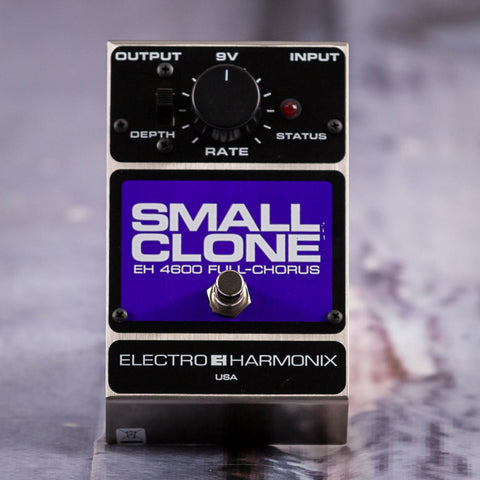 Used Electro-Harmonix EH-4600 Small Clone Full Chorus Effects Pedal, front