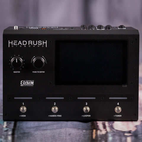 Used Eleven HD Expanded HeadRush Gigboard Effects Board, front