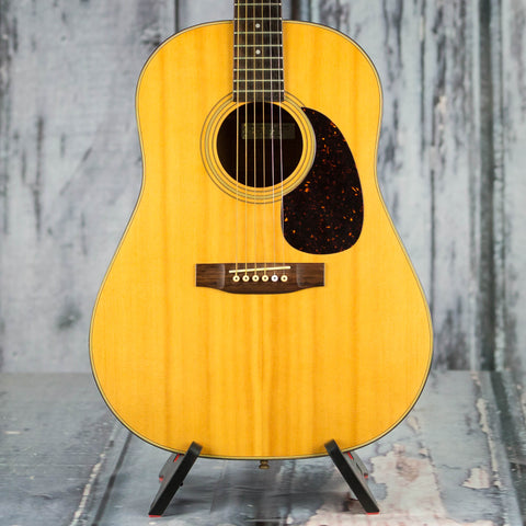 Used Epiphone PR-650-N Acoustic Guitar, Natural, front closeup