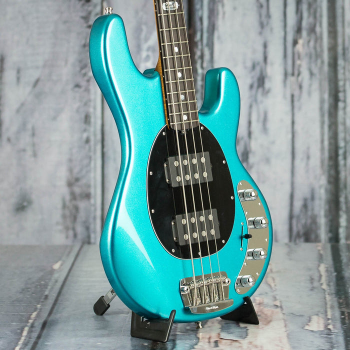 used 2011 ernie ball music man bfr stingray iv bass turquoise metallic for sale replay guitar. Black Bedroom Furniture Sets. Home Design Ideas