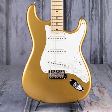 Used Fender American Original '50s Stratocaster Electric Guitar, 2017, Aztec Gold, front closeup