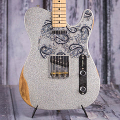 Used 2017 Fender Brad Paisley Road Worn Telecaster, Silver Sparkle