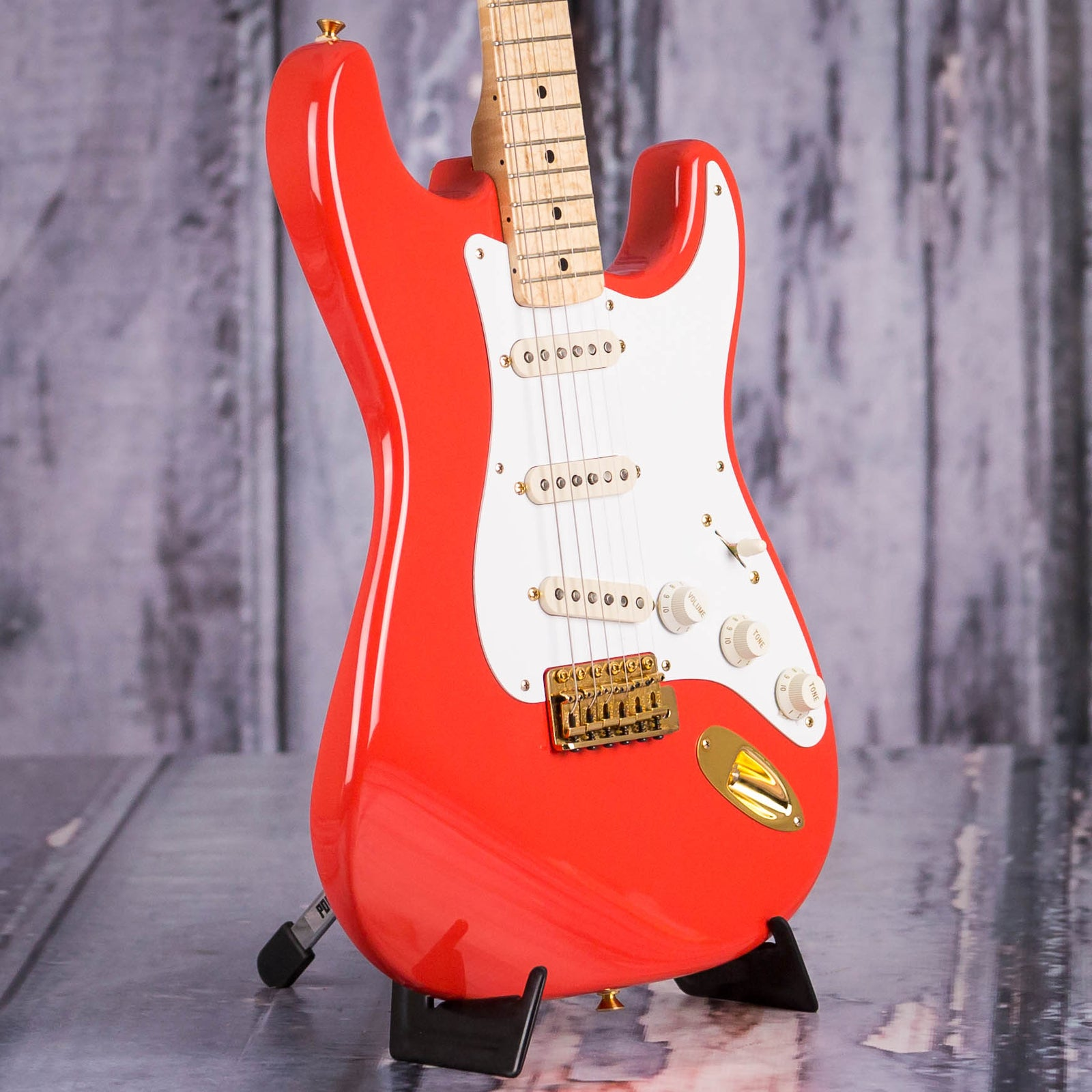 used 1996 fender custom shop 39 58 reissue stratocaster fiesta red for sale replay guitar. Black Bedroom Furniture Sets. Home Design Ideas