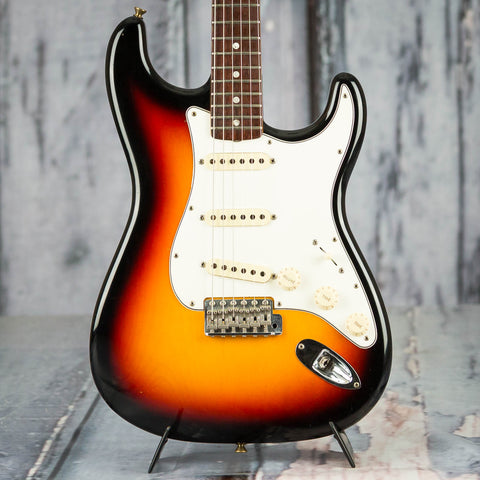 Used Fender Custom Shop '69 Stratocaster Electric Guitar, 2008, 3-Color Sunburst Closet Classic, front closeup