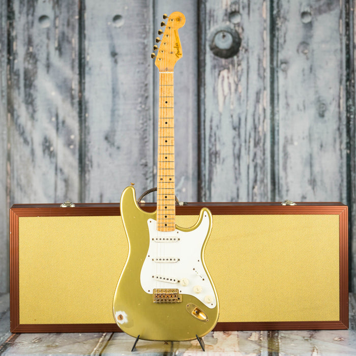 Used 1999 Fender Custom Shop Cunetto Relic Stratocaster, Diamond Dealer #5 Aztec Gold