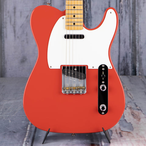 Used Fender MIM Telecaster Electric Guitar, Fiesta Red, front closeup
