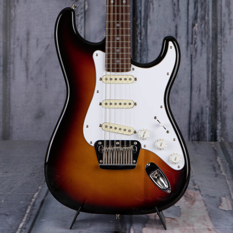 Used Fender Stratocaster XII 12-String Electric Guitar, 1988, 3-Color Sunburst, front closeup