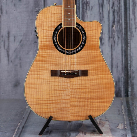 Used Fender T-Bucket 400CE Acoustic/Electric Guitar, Natural, front closeup