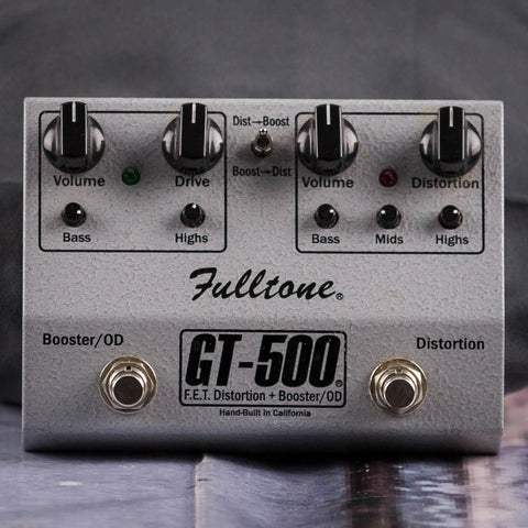Used Fulltone GT-500 F.E.T. Distortion & Booster Overdrive, front