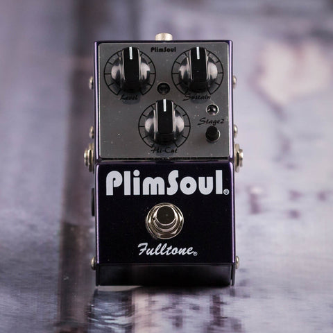 Used Fulltone PlimSoul Overdrive Effects Pedal, front