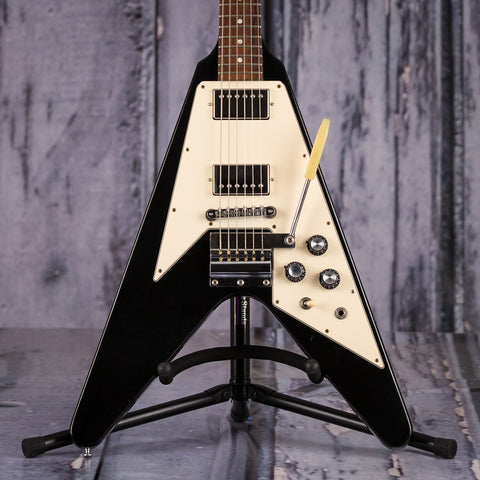 Used Gibson Custom Shop Historic 1967 Flying V, 2001, Black, front closeup