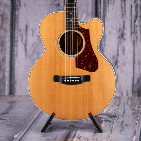 Used Gibson HP 665 SB Acoustic Electric Guitar, 2017, Natural, front closeup