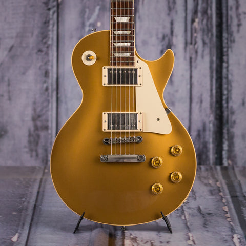Used Gibson Les Paul '57 Reissue, 2005, Gold Top, front closeup
