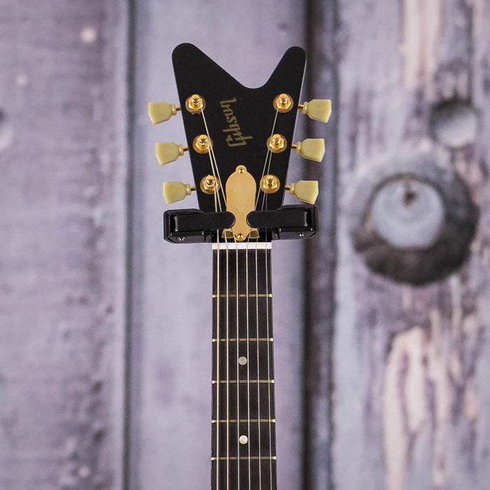 Used 2007 Limited Edition Gibson Reverse Flying V, Ebony With Gold Hardware