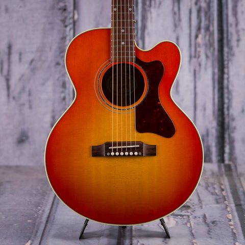 Used Gibson Parlor AG Acoustic/Electric Guitar, 2018, Light Cherry Burst, front closeup