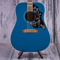Used 2018 Gibson USA Hummingbird Big Sky Blue Acoustic/Electric, Aqua Blue