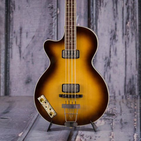 Used Hofner Club Bass H500/2 2000s, Left-Handed, 2003, Sunburst, front closeup