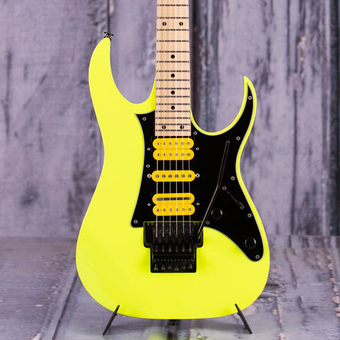 Used Ibanez 20th Anniversary RG550, 2006, Desert Yellow, front closeup
