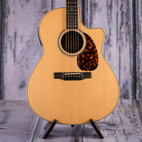 Used Larrivee LV-03R Acoustic/Electric Guitar, 2012, Natural, front closeup