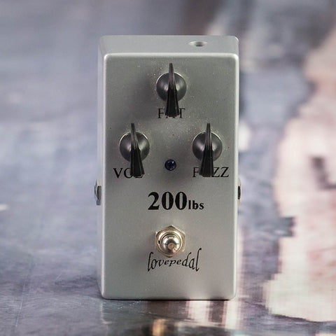 Used LovePedal 200lbs Of Gold Fuzz Effects Pedal, front