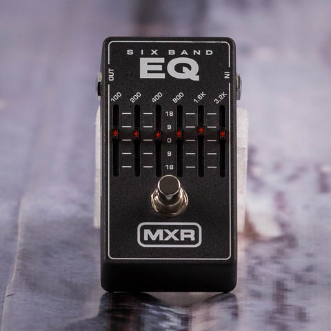 Used MXR M109 6-Band EQ Effects Pedal, front