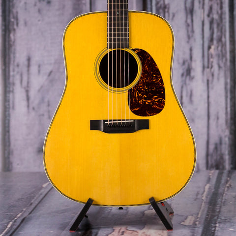 Used Martin Custom Shop Limited Run HD-28 Acoustic Guitar, 2014, Natural, front closeup